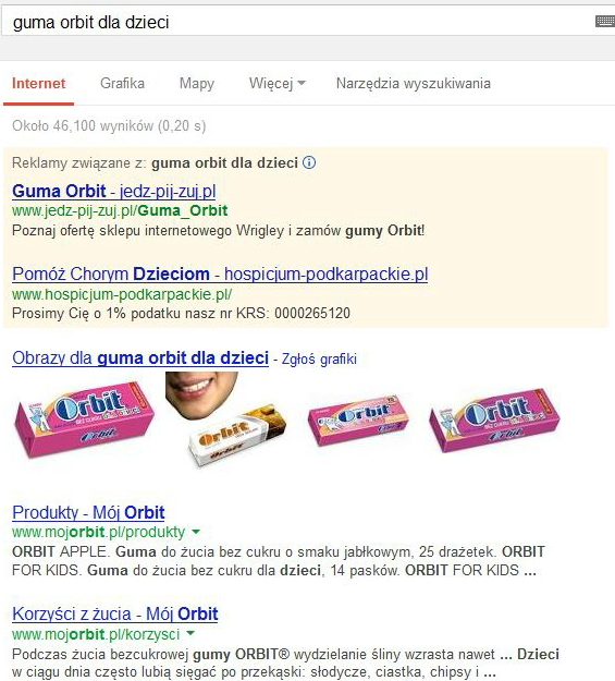 reklamy google guma orbit