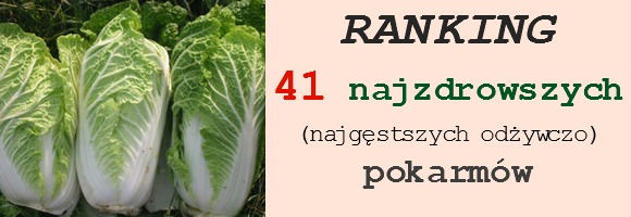 ranking 41 najzdrowszych pokarmów